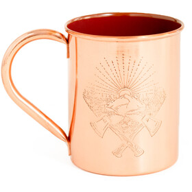 United By Blue Axe Crest Copper/Enamel Linded Mug Orange
